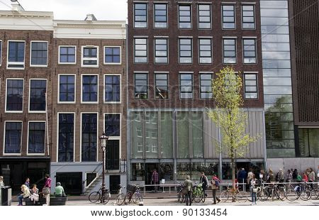 Anne Frank House In Amsterdam The Netherlands