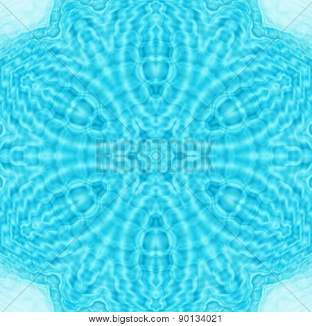 Abstract background with pattern from water ripples poster