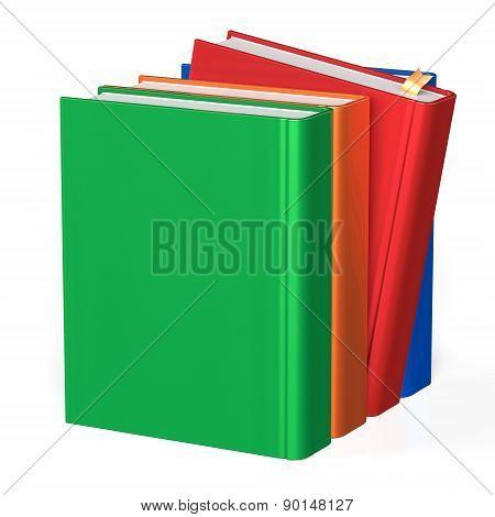 Book Selecting Take From Bookshelf Four Books Row
