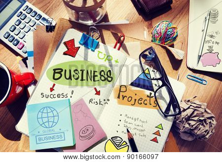 Business Project Risk Success Management Up Global Income Concept