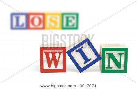 Win Lose Alphabet Blocks