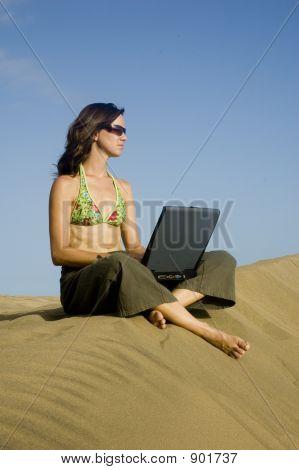 Surfergirl On Laptop2