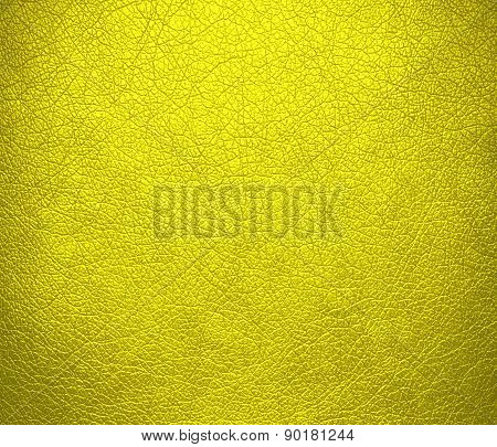 Cadmium yellow color leather texture background