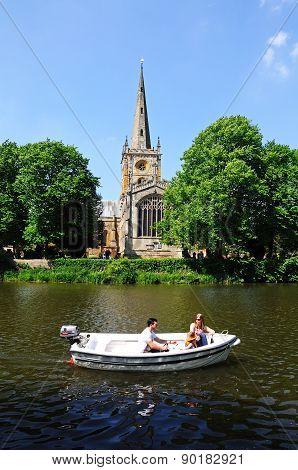 RSC and river Avon, Stratford-upon-Avon.