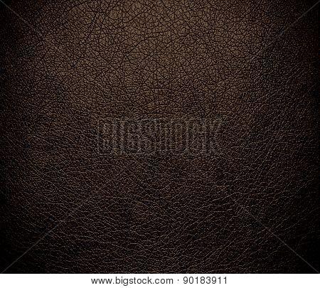 Cafe noir color leather texture background