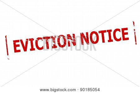 Rubber stamp with text eviction notice inside vector illustration poster