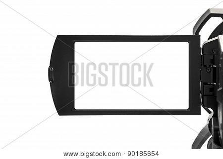 Digital Handycam Video Camcorder Display As Blank Space