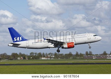 Amsterdam Airport Schiphol - Airbus A320 Of Sas Lands