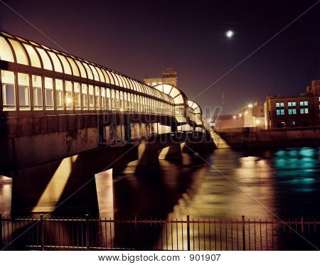 Downtown Bridge At Night