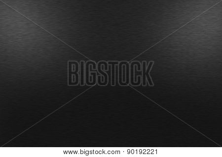 Black Metal Background With Two Upper Lights