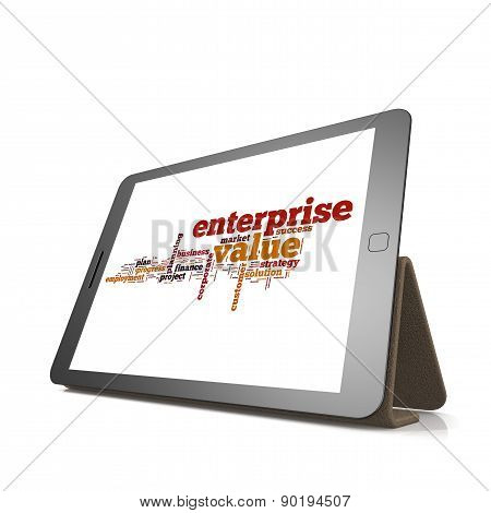 Enterprise Value Word Cloud On Tablet