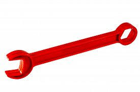 red plastic wrench