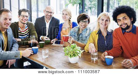 Coffee Break Friends Bonding Group Team Diversity Concept