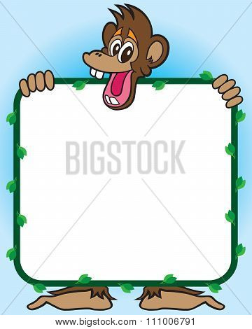 Monkey with Sign