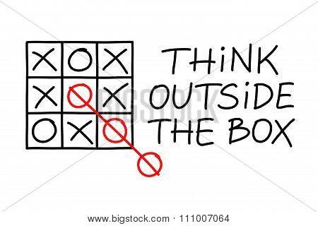 Think Outside The Box Tic Tac Toe