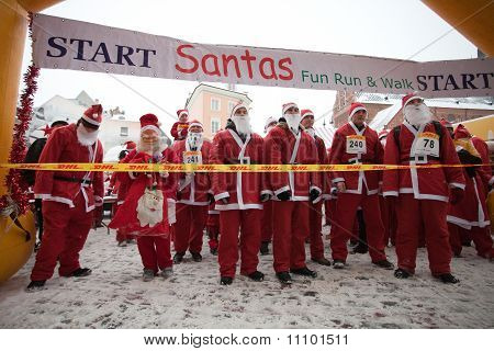 Santas Fun Run & Walk In Riga, Latvia