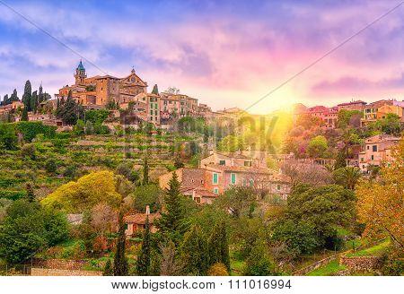 Sunrise In Valdemossa Valley, Mallorca, Spain