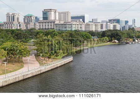 Putrajaya, Malaysia - Circa September 2015: Putrajaya Park In Putrajaya,  Malaysia