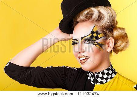 Girl Racer Winks.