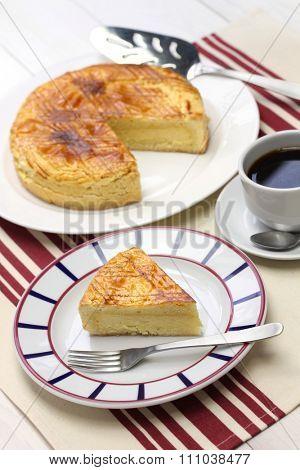 homemade gateau basque, tea time
