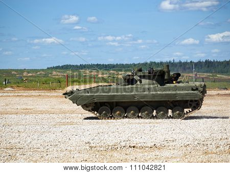Infantry fighting vehicle BMP-2 at the test site