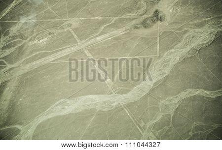 Nazca Lines On Desert In Peru, South America