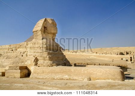 Egyptian Sphinx,  Ancient civilization of the pharaohs.