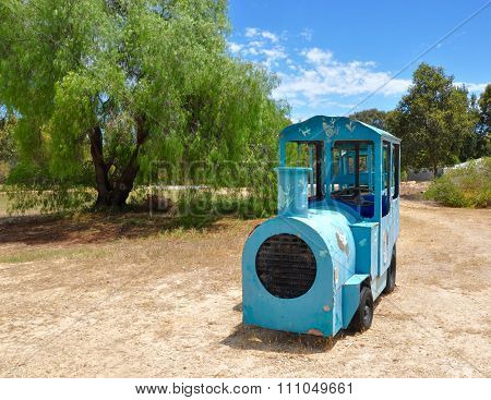 Trackless Touring Train in Nature