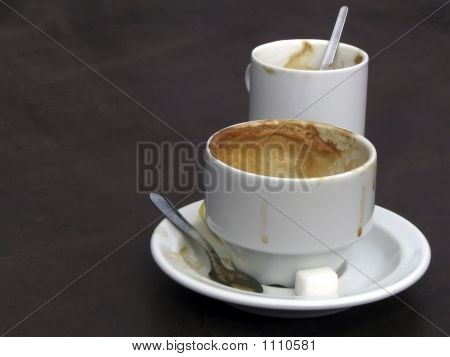 Coffee And Creme At The End Of A Meal