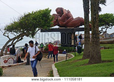 Lima, Peru - November 4, 2015: El Parque Del Amor In Miraflores