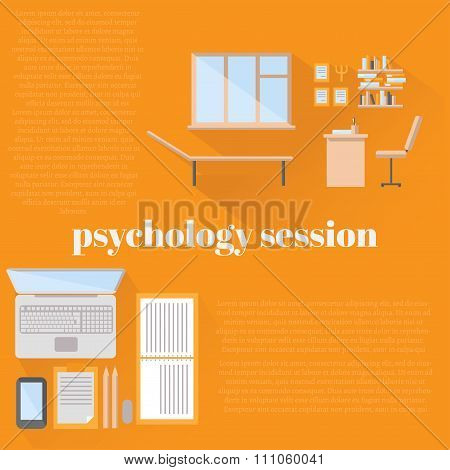 Flat Psychologist Office For Counseling