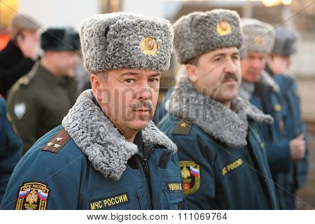 Orel, Russia - December 09, 2015: Emergency Control Ministry (mchs) Tactical Exercise. Russian Mchs