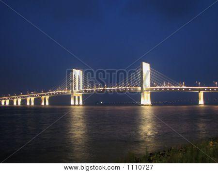 Night Suspension Bridge