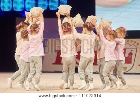 Minsk, Belarus December 05: Unidentified Gymnast From ' Baranovichi' Participate With 's