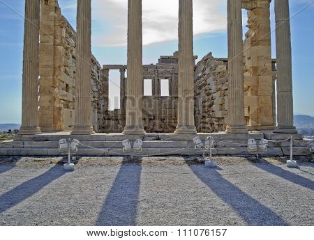 ancient columns in Athens Greece