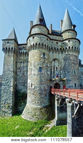 Medieval Castle In The Town Of Vitre.