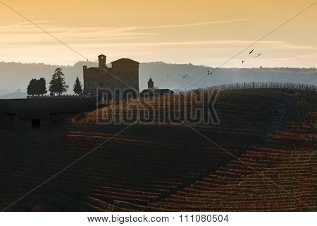 Sunset Views In The Langhe Unesco Heritage