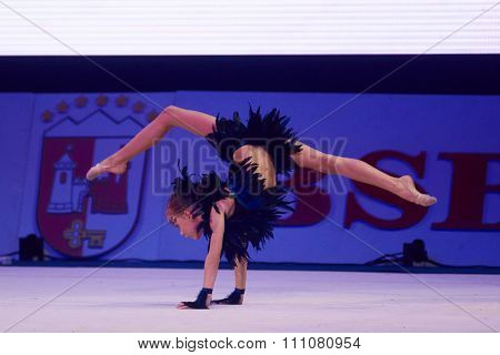 Minsk, Belarus December 05: Unidentified Gymnast From ' Usit' Participate With 'propheti