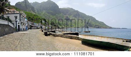 Wooden Fishing Boat By The Road