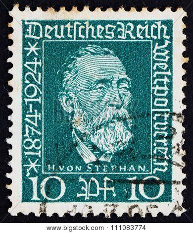 Postage Stamp Germany 1924 Dr. Heinrich Von Stephan