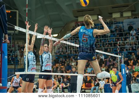 Anastasia Markova (dynamo (msc) 5 While Playing On Women's Rissian Voll