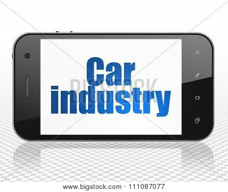 Industry concept: Smartphone with Car Industry on display