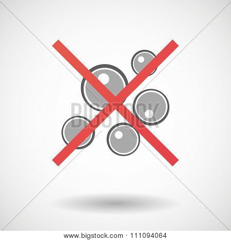 Not Allowed Icon With Oocytes