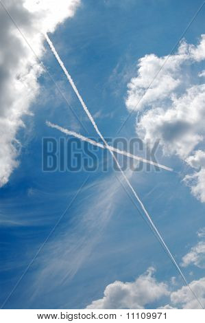 X marks the spot. The sky's the limit