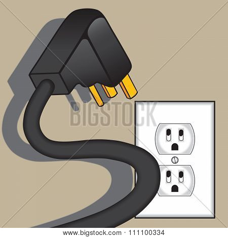 Scary electrical plug