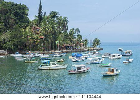 Beautiful Quiet Tropical Port In Brazil