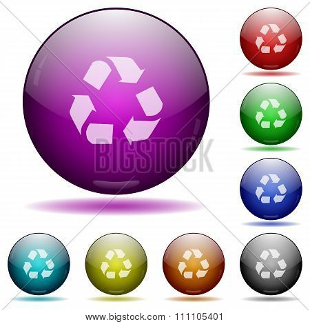 Recycling Glass Sphere Buttons