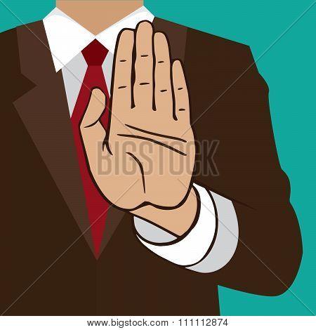 Hand Sign Wait