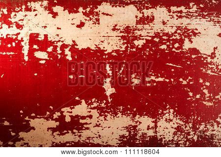 Vintage Wood Red Paint Texture Background