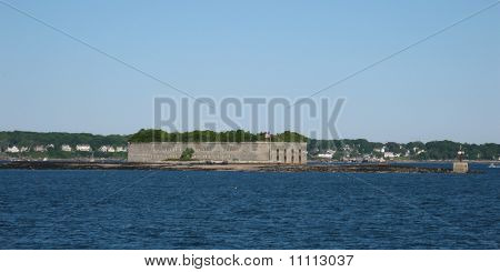 Fort Gorges In Casco Bay
